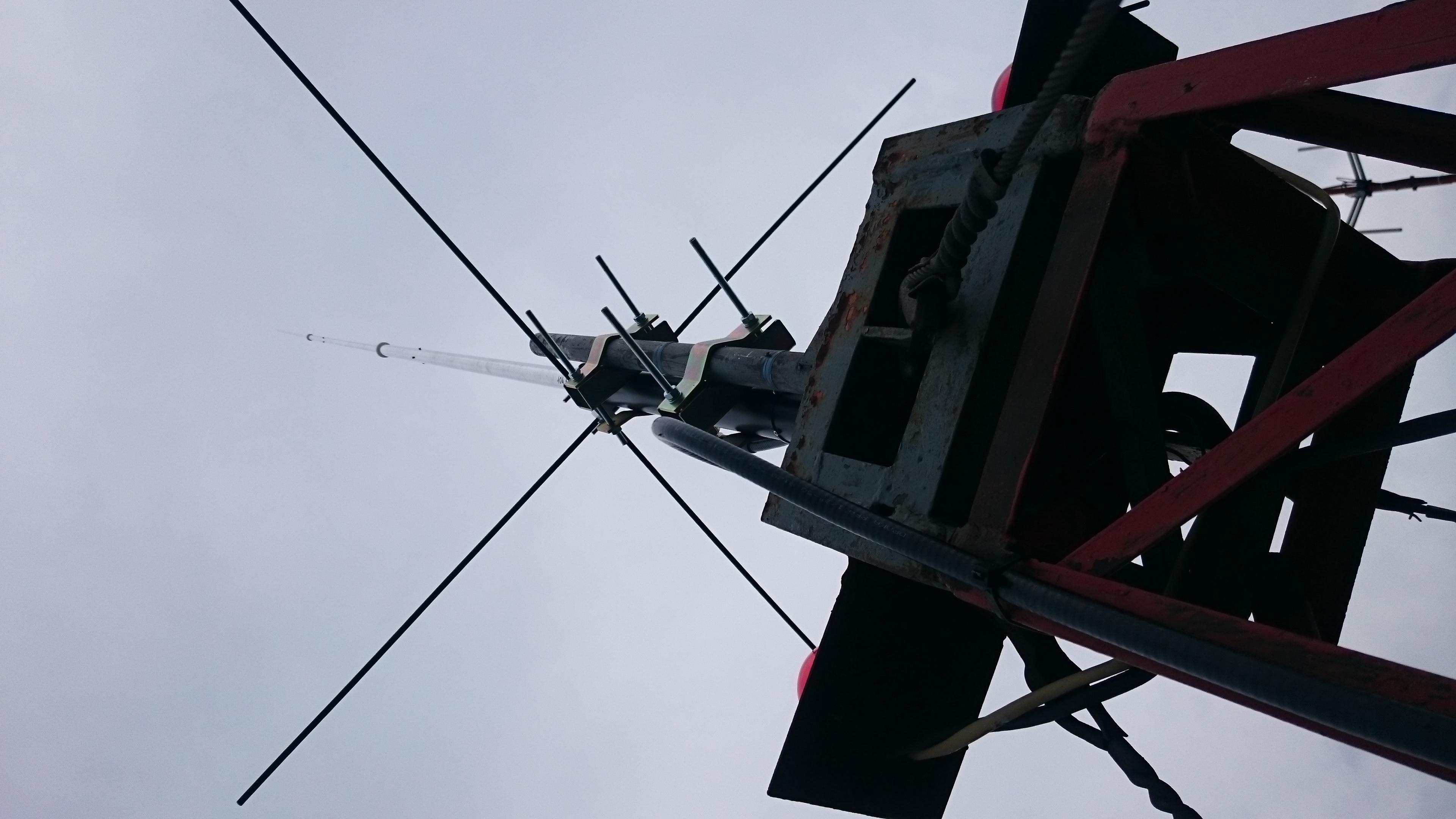 FM radijos bangų antenos montavimas